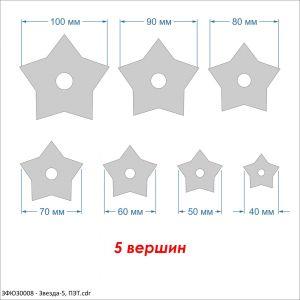 Набор шаблонов ''Звезда-5'' , ПЭТ 0,7 мм (1уп = 5наборов)
