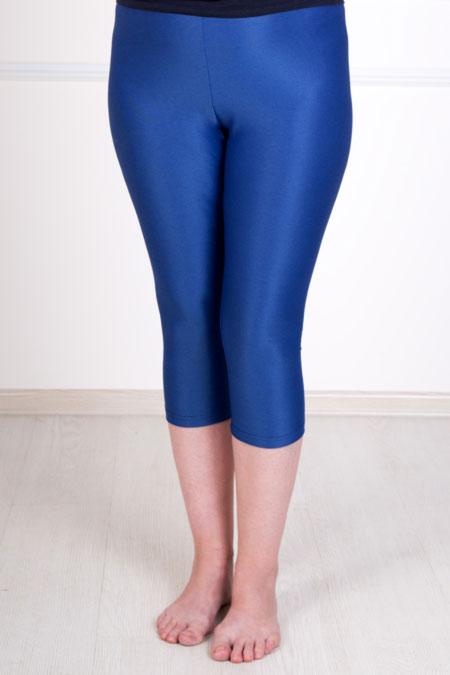 Бриджи женские синие, вискоза