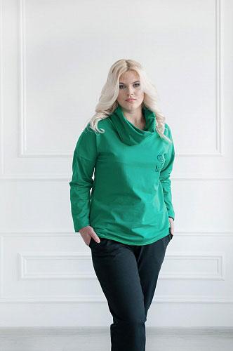 Толстовка 049 зеленая, футер