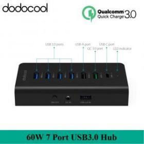 USB 3.0 хаб Dodocool DC33 c быстрой зарядкой QC 3.0