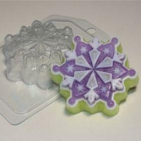форма пластиковая для мыла и шоколада Снежинка 6