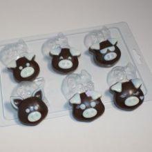форма пластиковая для мыла и шоколада Хрюшки-мордашки мини