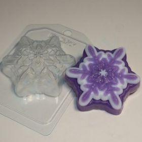 форма пластиковая для мыла и шоколада Снежинка 5