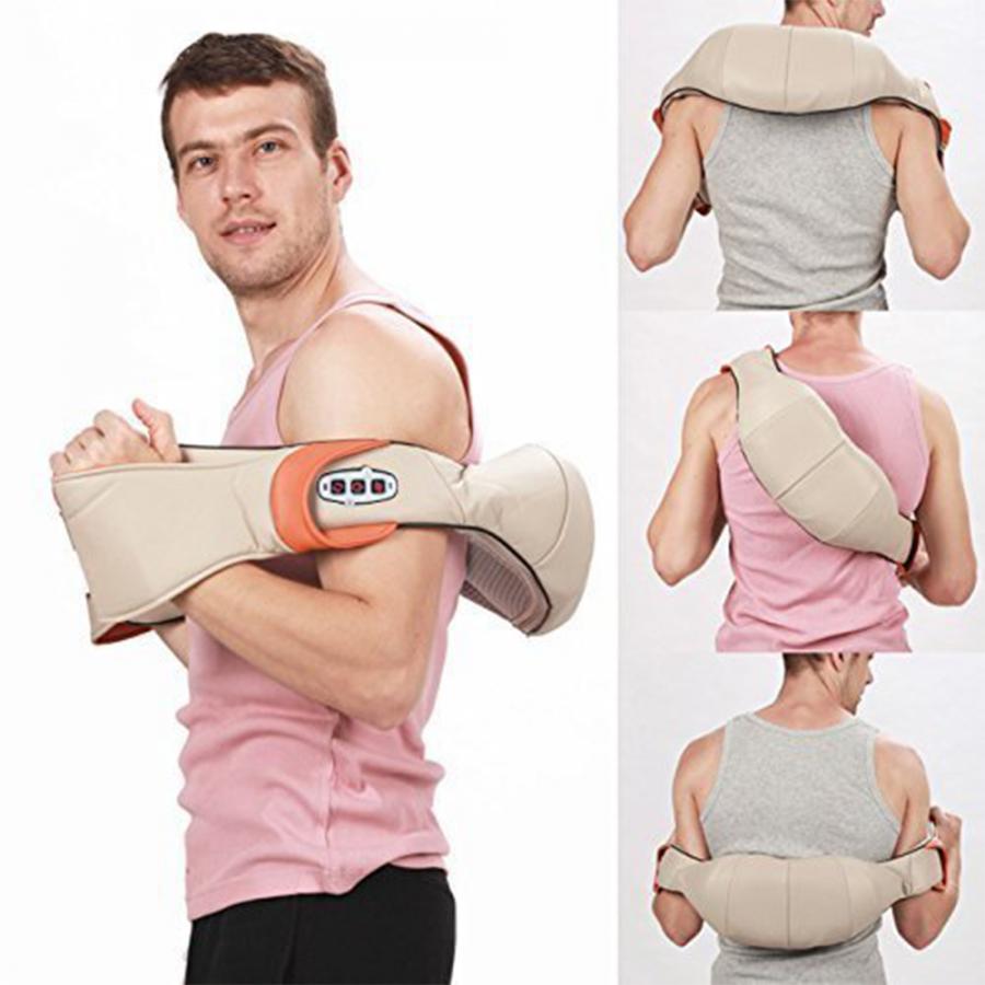 Массажер для шеи, плеч и спины с ИК-прогревом Massager Neck Kneading