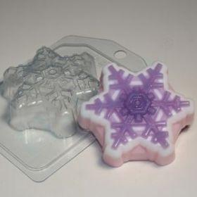 форма пластиковая для мыла и шоколада Снежинка 4