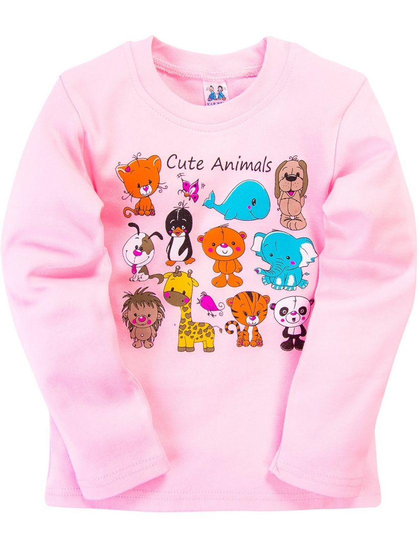 Розовый джемпер для девочки Cute Animals