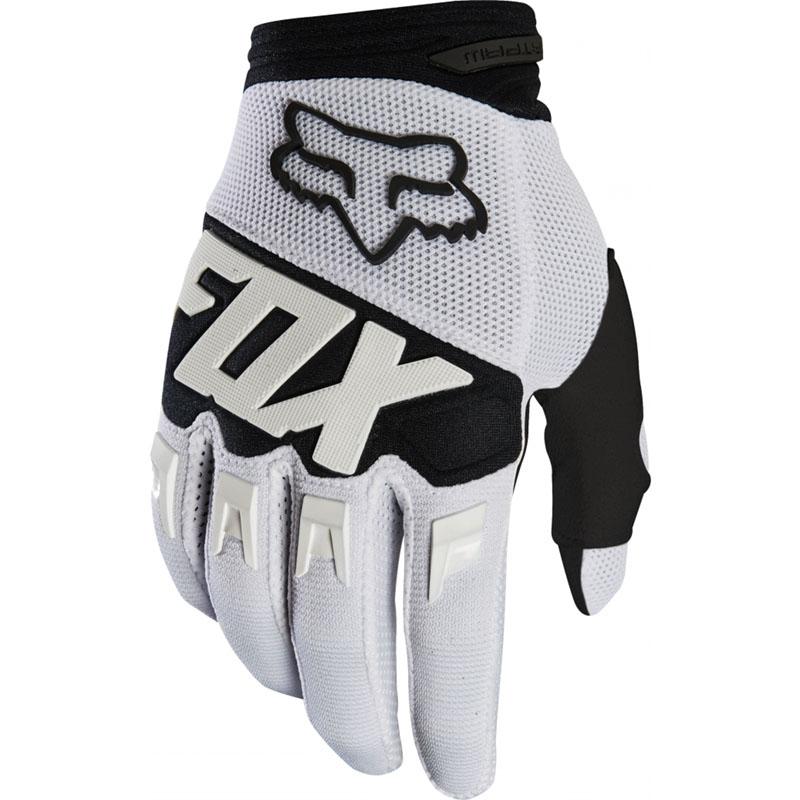 Fox - 2019 Dirtpaw Race Youth White перчатки подростковые, белые