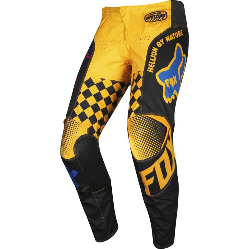 Fox - 2019 180 Youth Czar Black/Yellow штаны подростковые, черно-желтые