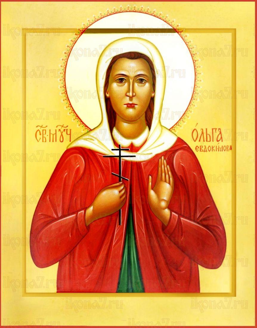 Ольга Евдокимова (икона на дереве)