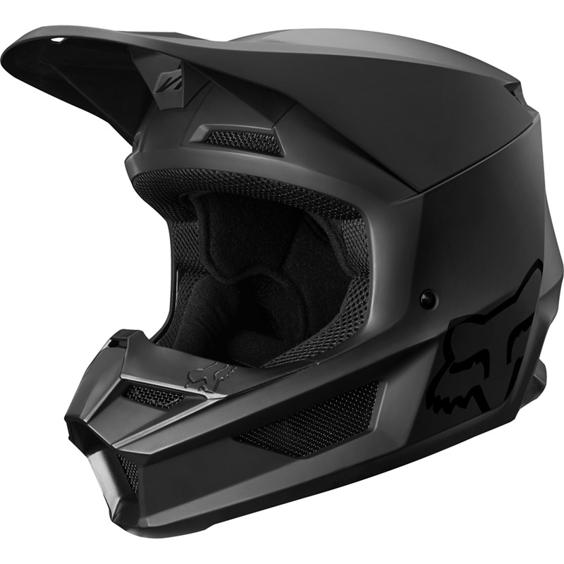 Fox - 2019 V1 Youth Matte Black ECE шлем подростковый, черный матовый