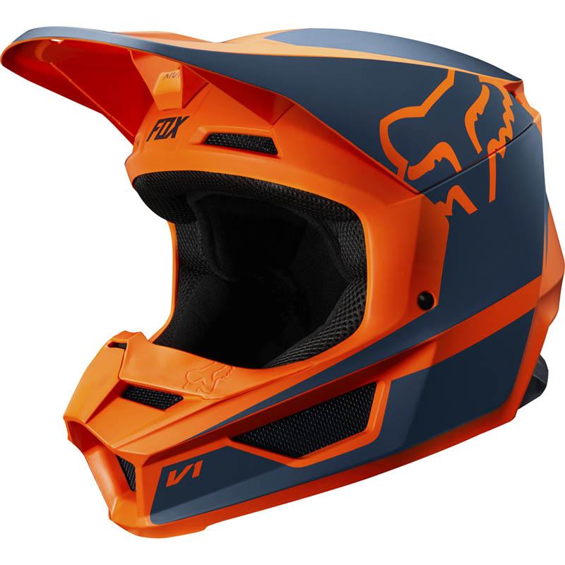 Fox - 2019 V1 Youth Przm Orange шлем подростковый, оранжевый