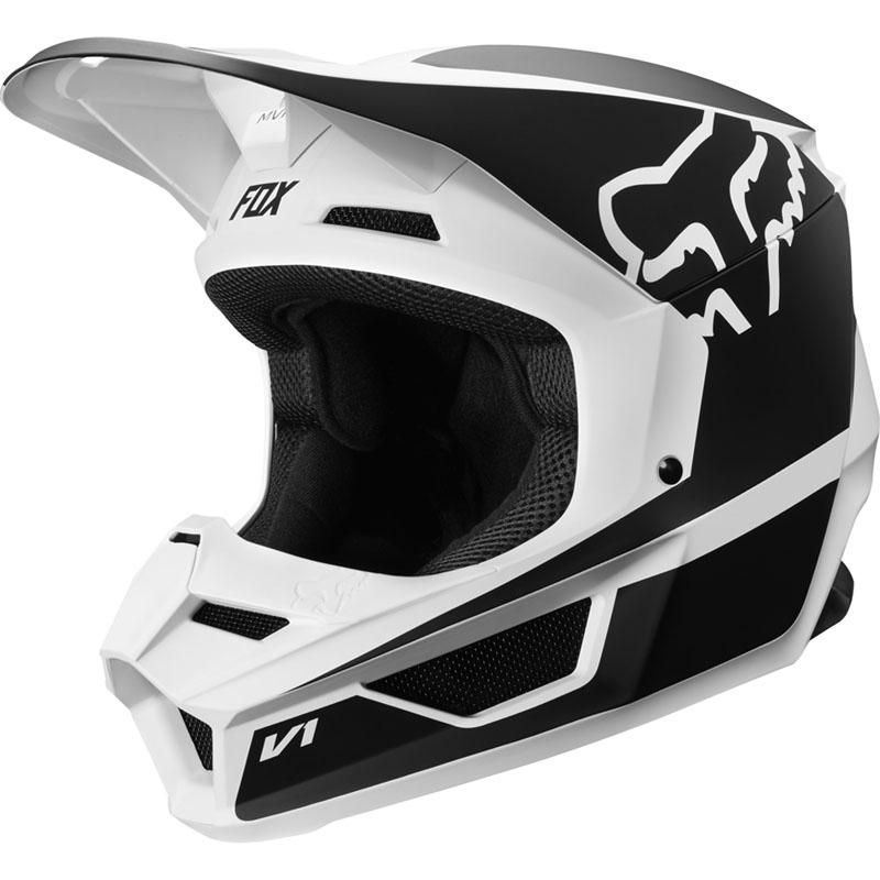 Fox - 2019 V1 Youth Przm Black/White ECE шлем подростковый, черно-белый