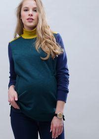 """Толстовка """"Пейтон"""" для беременных и кормящих; цвет: бутылочный"""