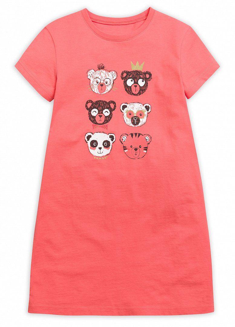 Ночная сорочка для девочки кораллового цвета