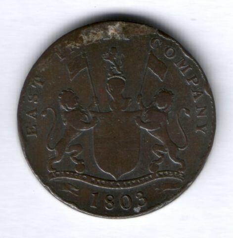 20 кэш 1803 г. Британская Индия