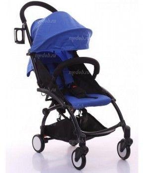 """Детская прогулочная коляска трансформер Yoya Babytime Синяя """"Йойа беби тайм"""""""