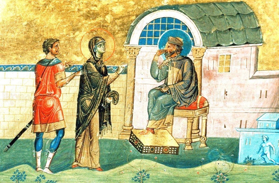Икона Поплия Антиохийская  (копия старинной)