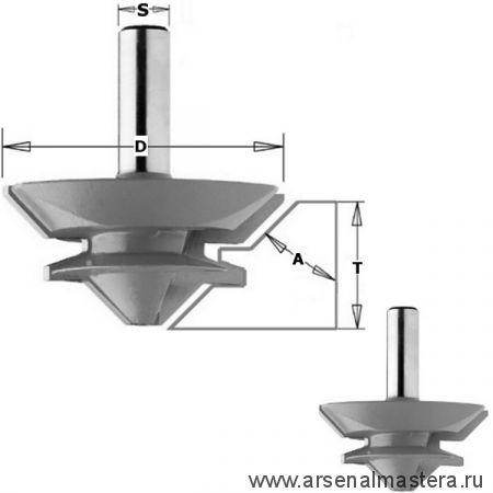 CMT PRO 955.4570 Фреза CMT-PRO сращивание 15-28,5 мм (угол 90/180гр.) S12 D70x31,7