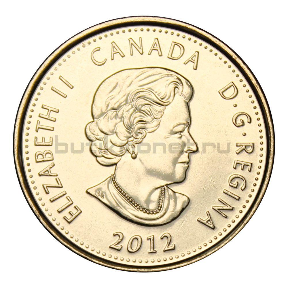 25 центов 2012 Канада Генерал-майор Исаак Брок Цветная (Война 1812 года)