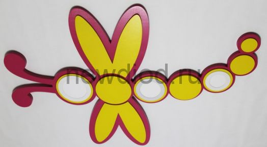 Детская потолочная люстра «Стрекоза»