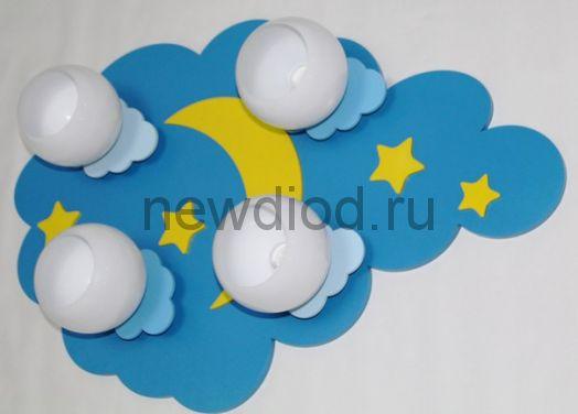 Детская потолочная люстра «Ночное небо с белыми плафонами»