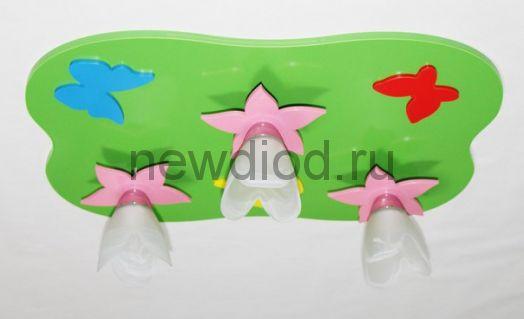 Детская потолочная люстра «Тюльпанчики