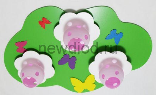 Детская потолочная люстра «Полянка с цветами»