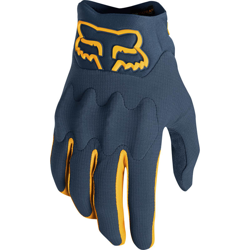 Fox - 2019 Bomber LT Navy/Yellow перчатки, сине-желтые