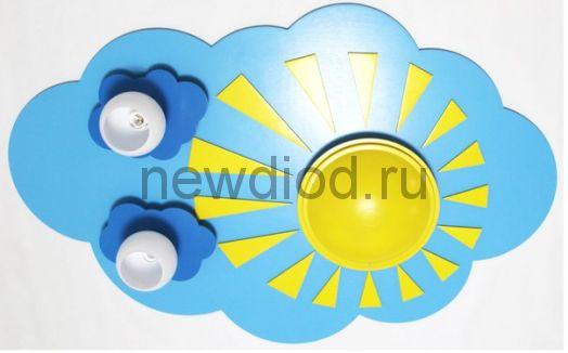 Детская потолочная люстра «Небо с тучками»