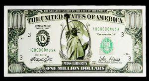 Конверт  для денег 1000 000 $