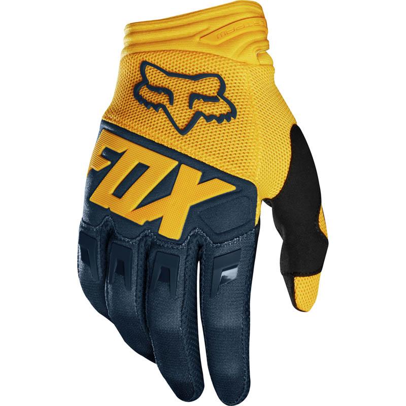 Fox - 2019 Dirtpaw Race Navy/Yellow перчатки, сине-желтые