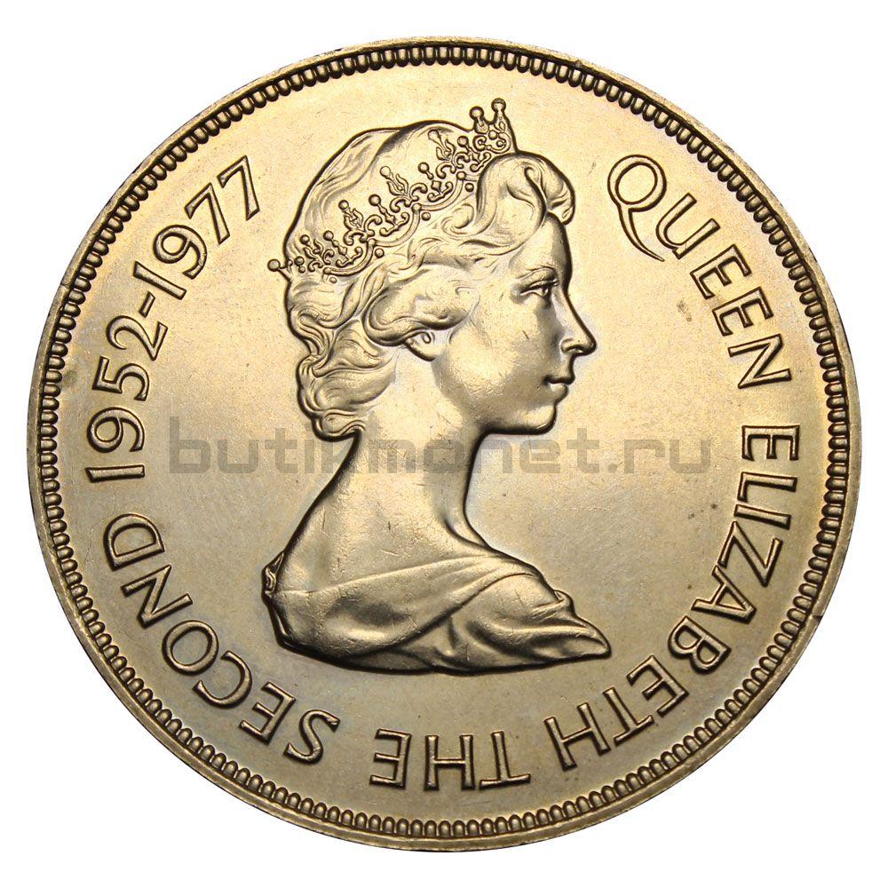 25 пенсов 1977 Джерси 25 лет правления Королевы Елизаветы II