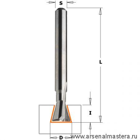 CMT 718.079.11 Фреза ласточкин хвост 18гр. монолитная S6 D7,9x6 HOFFMANN W2 RH