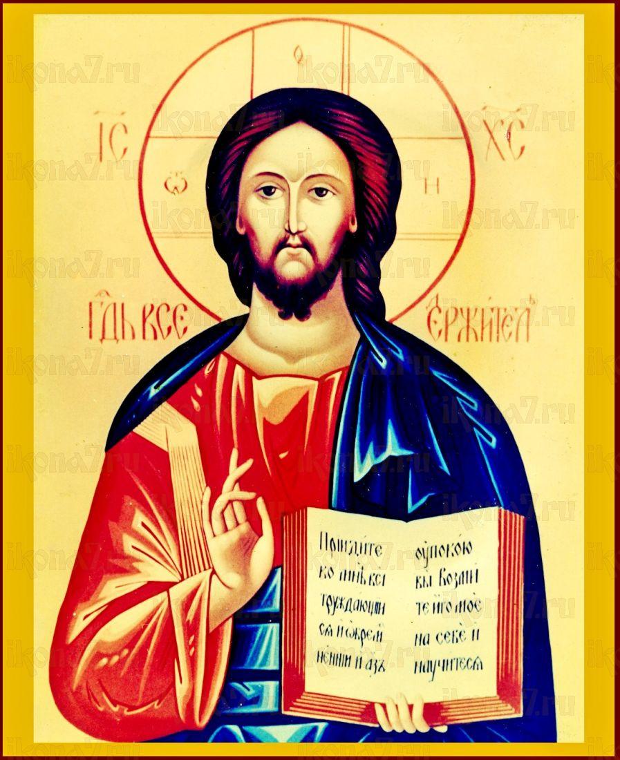 Господь Вседержитель (икона на дереве)