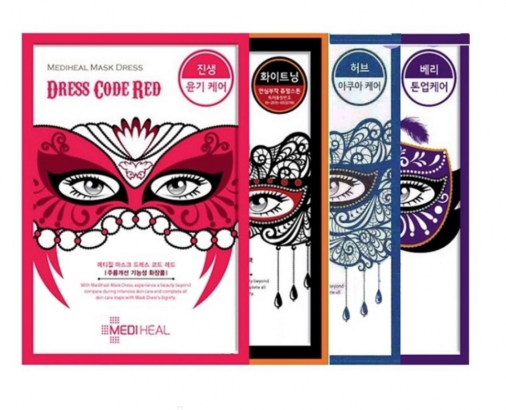 Маска тканевая для лица MEDIHEAL Mask Dress Code 27мл