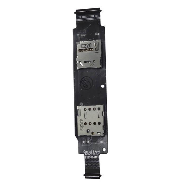 Шлейф с держателем SIM и MMC Asus Zenfone 2 (ZE550CL)