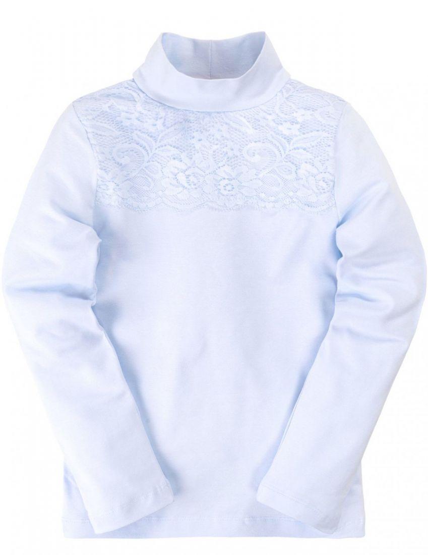 Блузка для девочки нежно-голубого цвета