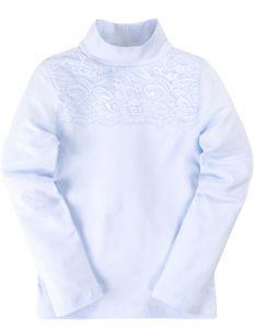 блузка светло-голубая девочке
