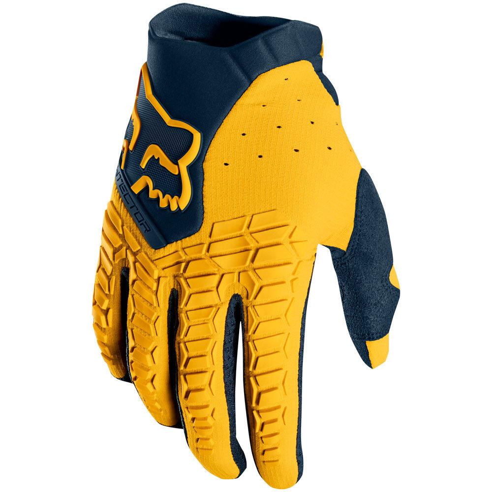 Fox - 2019 Pawtector Navy/Yellow перчатки, сине-желтые