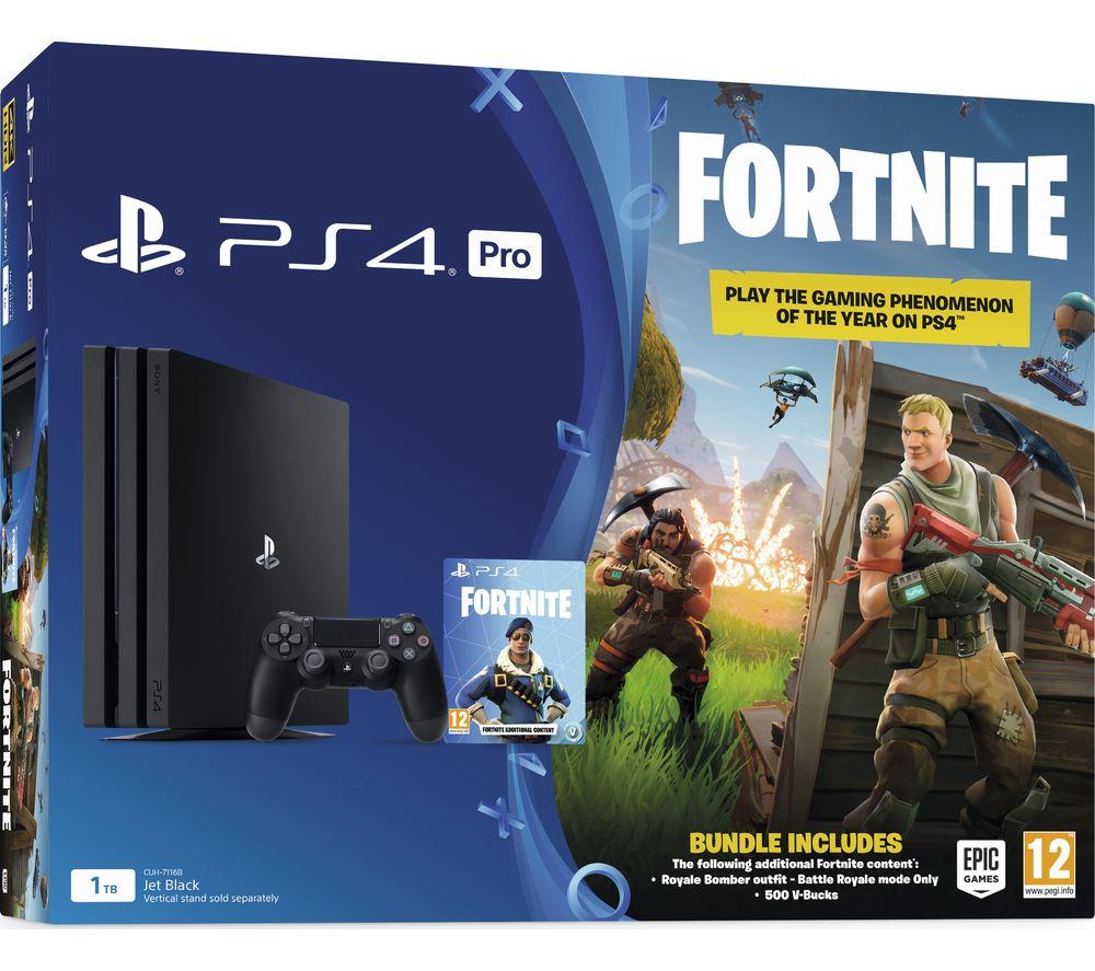 Sony PlayStation 4 Pro 1Tb + Игра Fortnite + Силиконовый чехол для джойстика