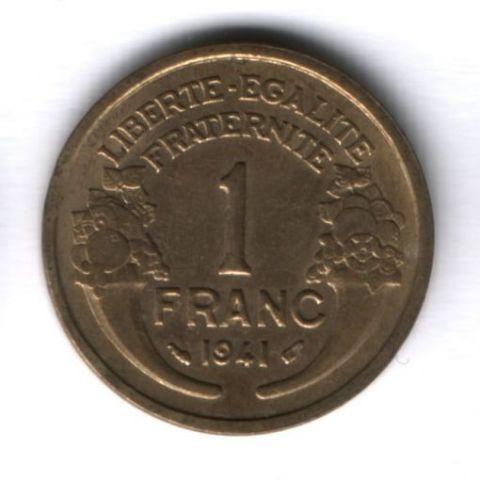1 франк 1941 г. Франция AUNC