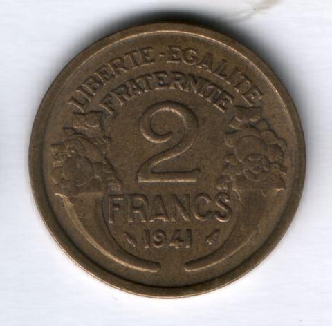 2 франка 1941 г. Франция