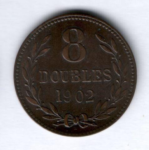 8 дублей 1902 г. Гернси