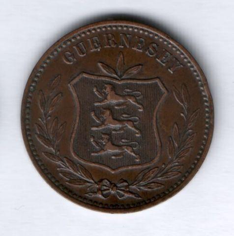 8 дублей 1885 г. Гернси
