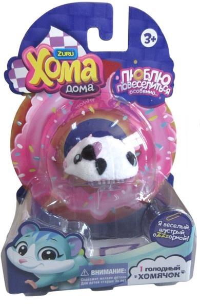 Купить Интерактивный хомячок 1 TOY Хома дома чёрно-белый недорого в москве