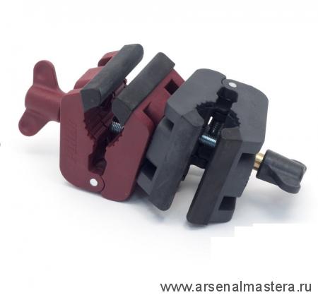 Зажим Piher MultiClamp двойной поворотный (красный/черный) М00012256