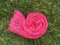 Розовый шарф из жатого шелка, купить в Москве. Интернет магазин