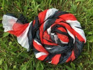 УЦЕНКА! Трёхцветный шёлковый шарф-парео (Москва)