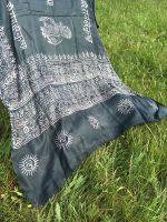 Черный шарф парео, индийский хлопок марлевка. Купить в Москве