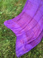 Фиолетовый индийский шарф из натурального хлопка марлевки. Купить в Москве, интернет магазин